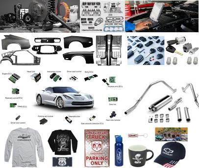 Amerikaanse auto-onderdelen en onderhoud